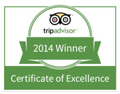 2014 Certificate of Excellence - Spellbound Tours