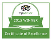 2015 Certificate of Excellence - Spellbound Tours